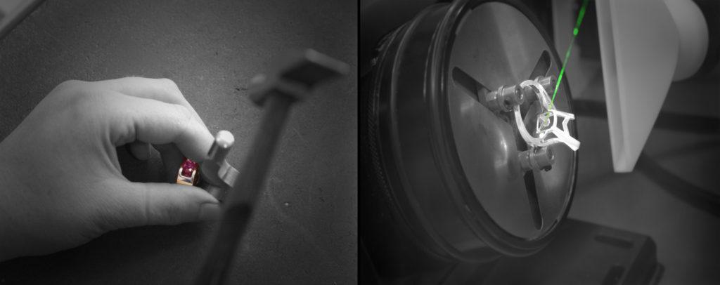 Poinçon traditionnelle VS poinçon laser Bellon&Fils