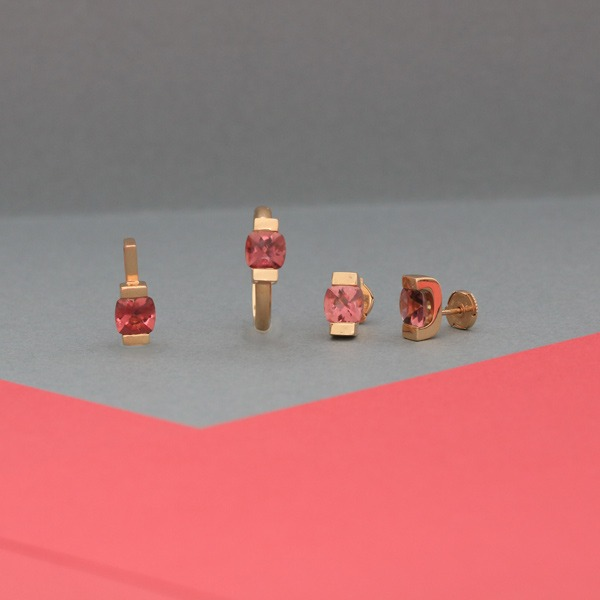 Collection New bellon Tourmaline et or rose